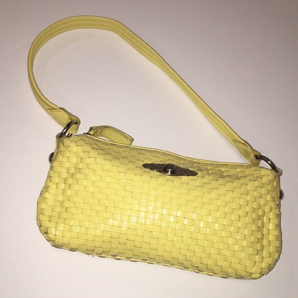 Elliott Lucca Handbags - ELLIOTT LUCCA buttercup yellow woven leather bag